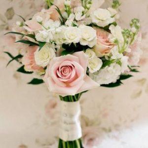 Букет невесты с нежно-розовыми розами из  art.05-46