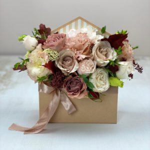 """Цветы в коробке """"конвертик""""art.12 012"""