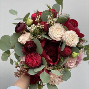 Букет невесты в цвете Марсала Art.05 06