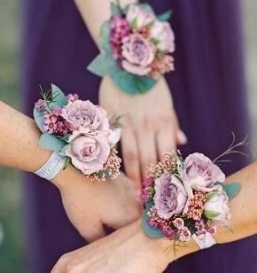 Браслет  невесты из живых цветов art.06-17