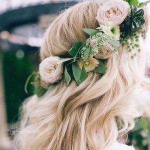 Свадебный венок из живых цветов Art.06 29