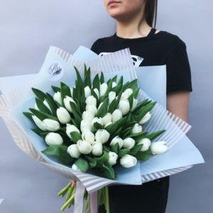 Букет белых тюльпанов art.13-14