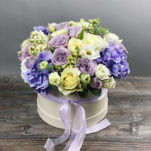 Букет цветов в шляпной коробке Art.12-097