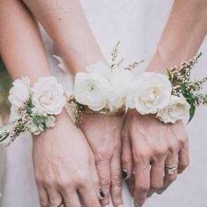 Браслет  для невесты из живых цветов art.06-20