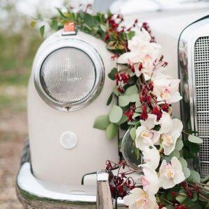 Оформление цветами свадебного авто Art.07 51