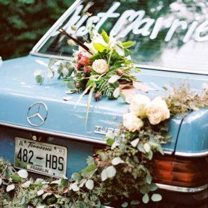 Оформление цветами свадебного автомобиля Art.07 05