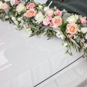 Оформление цветами свадебного автомобиля Art.07 04