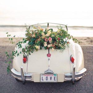 Оформление цветами свадебного авто Art.07 12