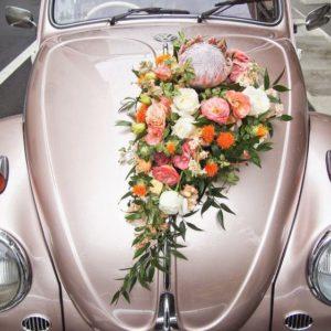 Оформление цветами свадебного автомобиля Art.07 09