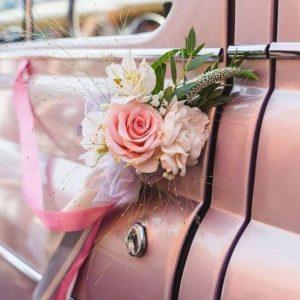 Оформление цветами авто на свадьбу Art.07 50