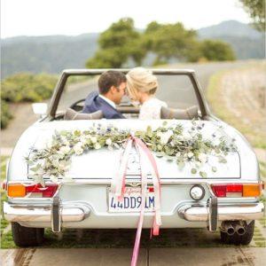 Оформление цветами свадебного автомобиля Art.07 08