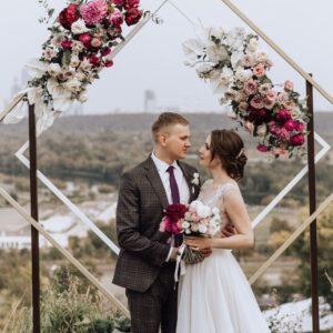 Арка из цветов на свадьбу Art.08 14