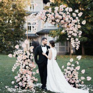 Арка из цветов на свадьбу Art.08 15
