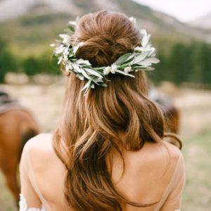 Свадебный венок из живых цветов Art.06 59
