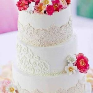 Оформление свадебного торта 28-17