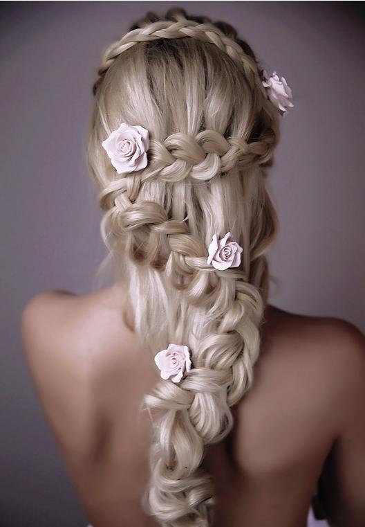это фото плетение волос цветком вас
