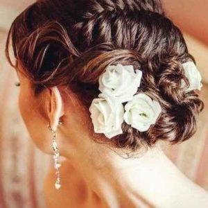 Цветы в прическу невесты art.06-83
