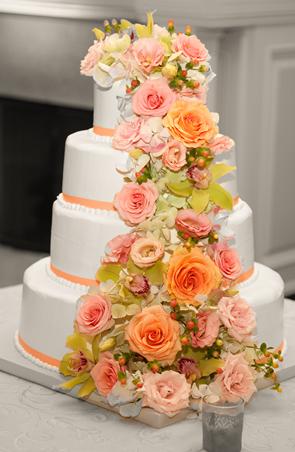 Оформление свадебного торта 28-24