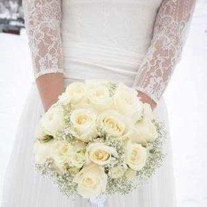 Букет невесты из роз и эустомы art. 05-102