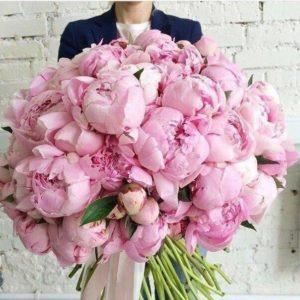 Букет из розовых пионов art. 03-10