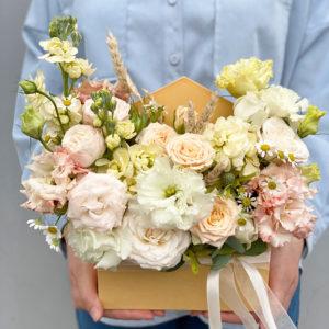 Букет из розовых роз в шляпной коробке Art. 80 50