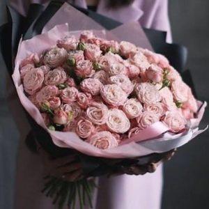 Букет из пионовидных роз art.80-065
