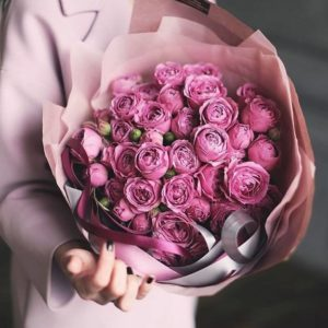 Букет из пионовидных роз art.80-62