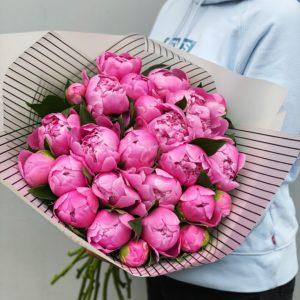 Букет ярко розовых пионов Art. 03 18