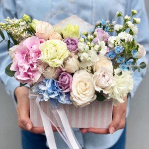 """Цветы в коробке """"конвертик"""" art. 12-045"""