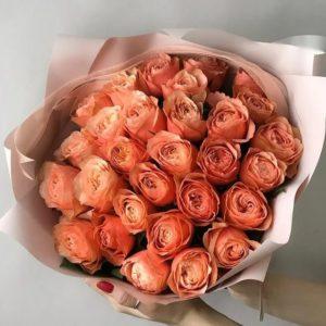 Букет из персиковых роз Art.12 038