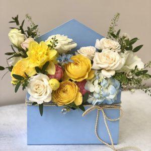 """Цветы в коробке """"конвертик"""" Art. 14 132"""