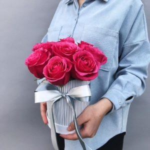 Шляпная коробка из роз Art.12 01